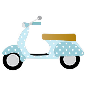 polka dot scooter