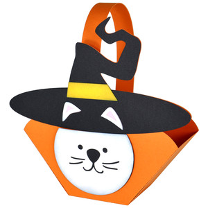 kitty witch halloween basket