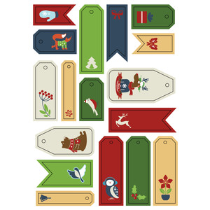 ml christmas animal tags stickers