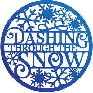 dashing through the snow christmas decoration