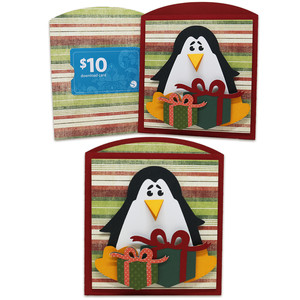 penguin gift card envelope
