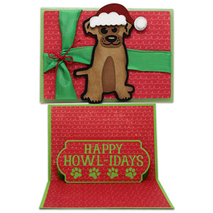 happy howl-idays pop-up card