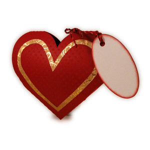 heart 3d shaped mini candy box
