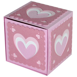 valentine layered hearts slider box