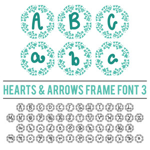 hearts and arrows frame font