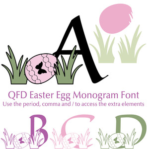 qfd easter egg monogram font