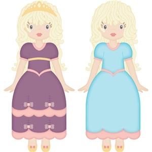 princess dress for rag paper doll