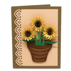 a2 sunflower card