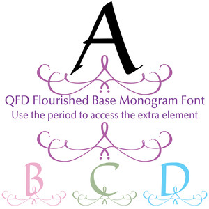 qfd flourished base monogram font