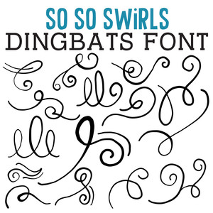 cg so so swirls dingbats