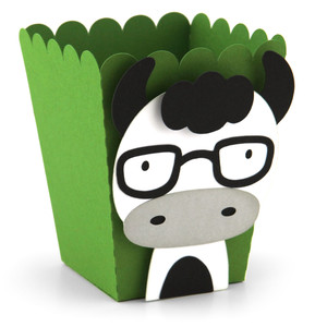 popcorn favor box cow