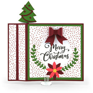 6x6 wiper card merry christmas