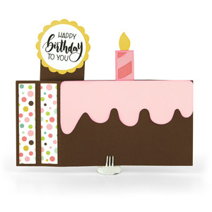 6x6 wiper card birthday cake