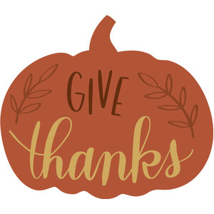 give thanks pumpkin