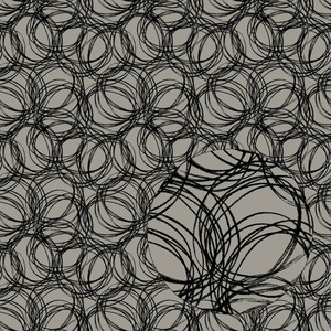 black & gray scribbles seamless pattern
