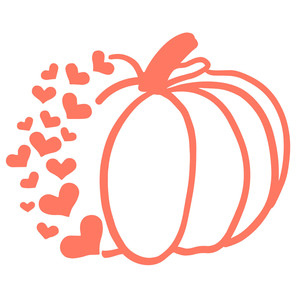 heart spray pumpkin