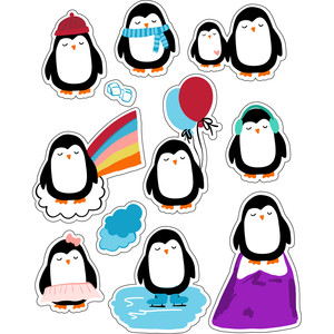 ml winter penguins stickers