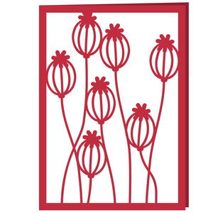poppy seed heads card