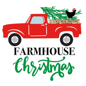 farmhouse christmas vintage truck