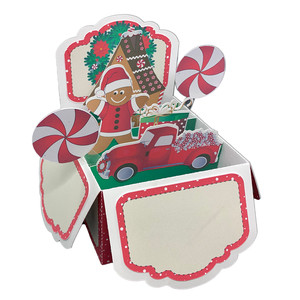 christmas pop up card in a box
