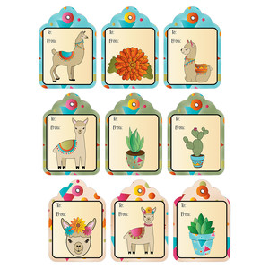 llama all occasion gift tags