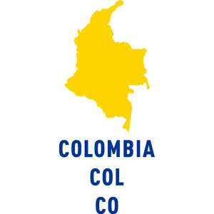 colombia country outline