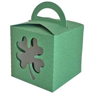 fold over four leaf clover window box with handle