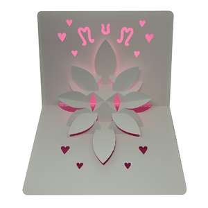 mother's day flower popup card
