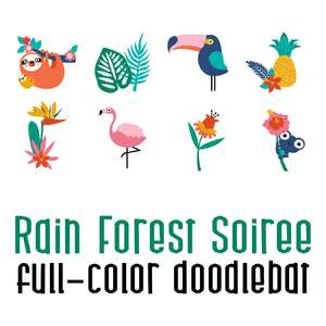 rain forest soiree color font