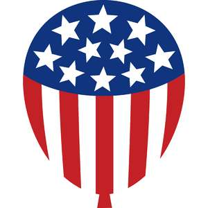 independence day balloon flag