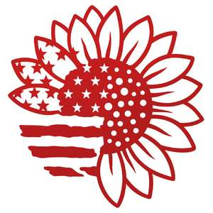patriotic sunflower flag
