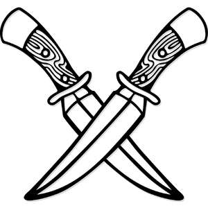 knives cross