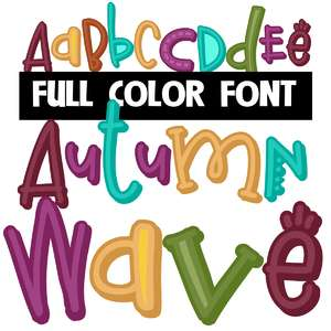 autumn wave color font