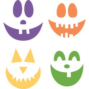 mix & match jack-o-lantern faces