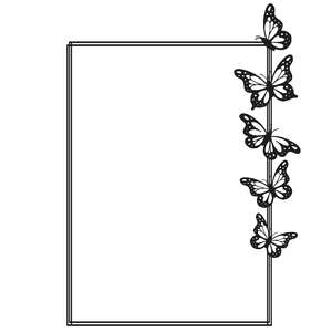 rectangle butterfly frame