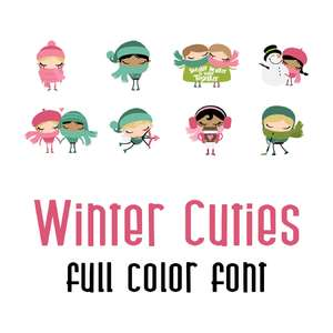 winter cuties full color font