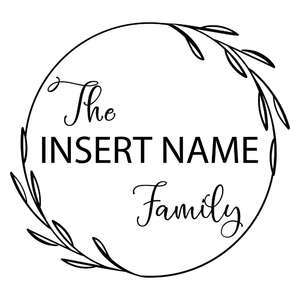 family monogram wreath to personalize