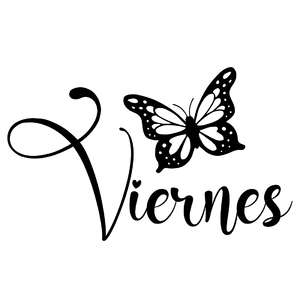 viernes butterfly word