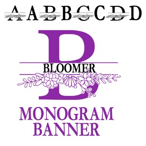pn bloomer monogram banner
