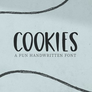 cookies fun handwritten font