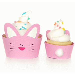 easter bunny cupcake wrapper