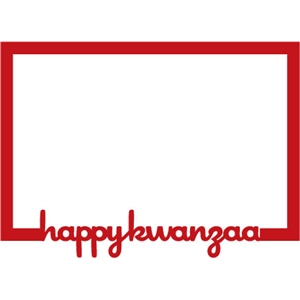 frame: Happy Kwanzaa