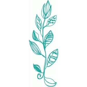 leaves motif sketch