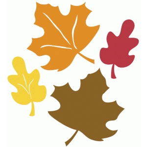 4 fall leaves