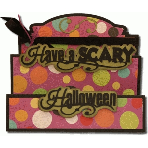 have a scary halloween tri-fold card