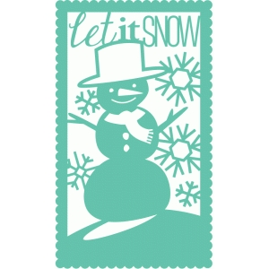 snowman holiday rectangle