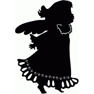 little angel silhouette