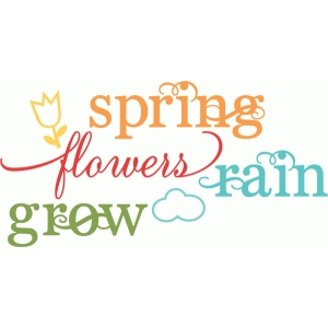 spring words set