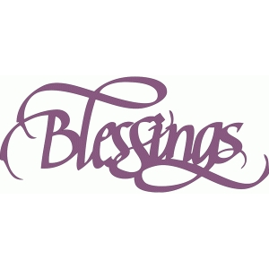 blessings  -  italic calligraphy