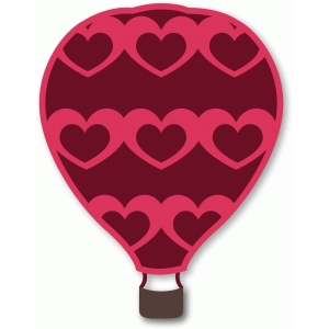 hot air balloon hollow heart